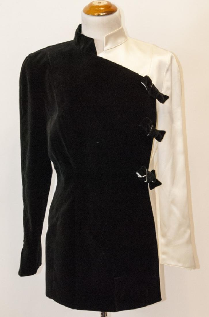 Thierry Muglar Vintage Velvet Blk/ White Pant Suit