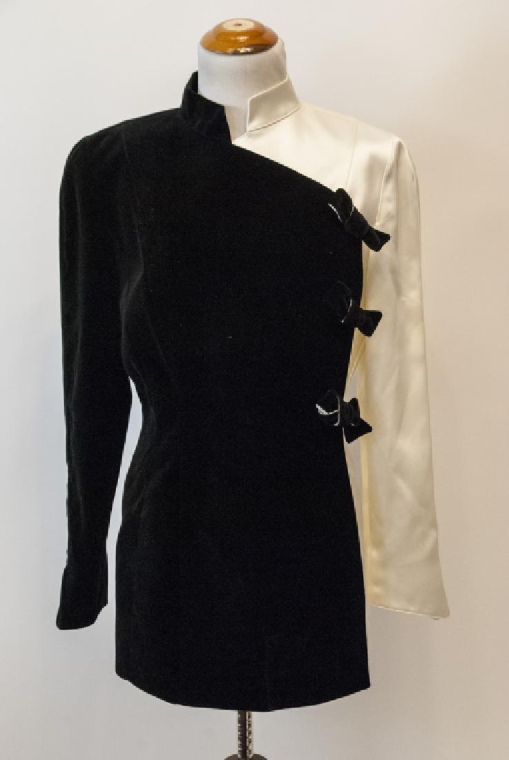 Thierry Muglar Vintage Velvet Blk/ White Pant Suit - 2