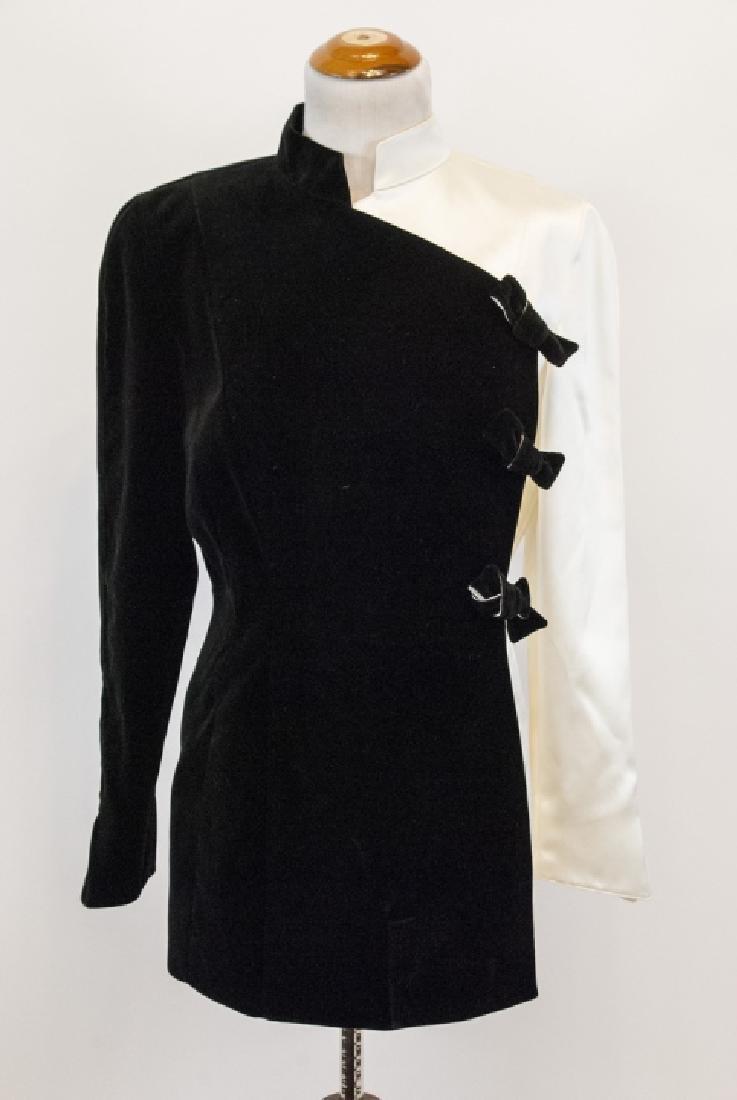 Thierry Muglar Vintage Velvet Blk/ White Pant Suit - 8
