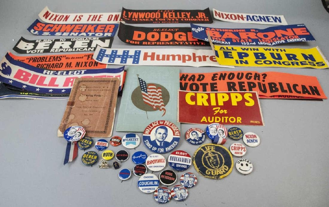 Mid Century Political Campaign Memorabilia