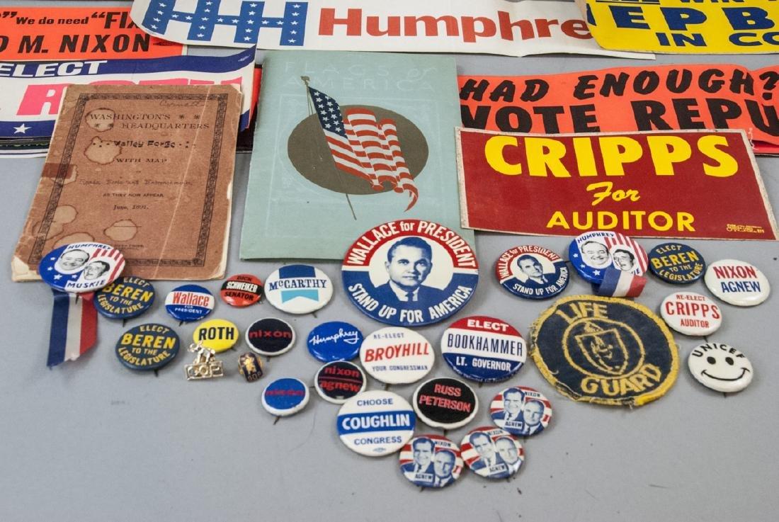 Mid Century Political Campaign Memorabilia - 8