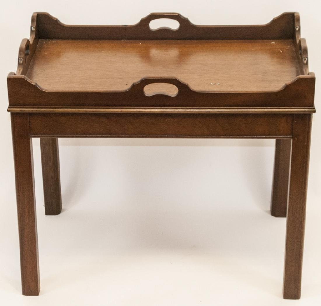 Antique English Mahogany Campaign Style Table