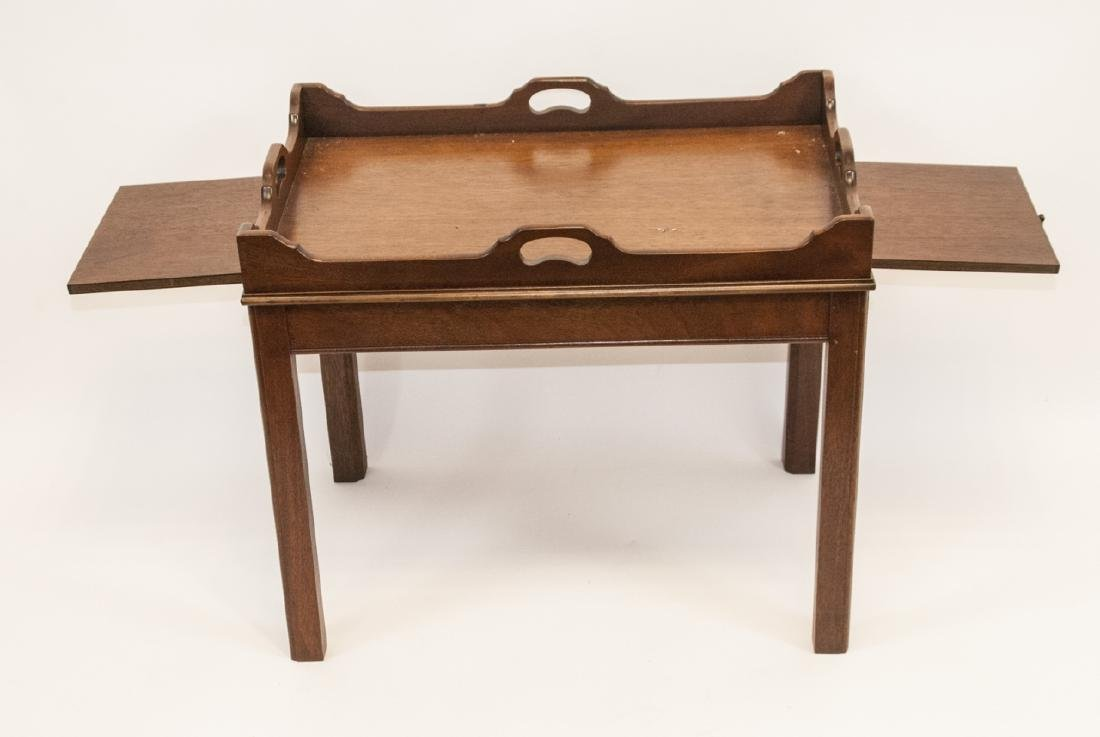 Antique English Mahogany Campaign Style Table - 3