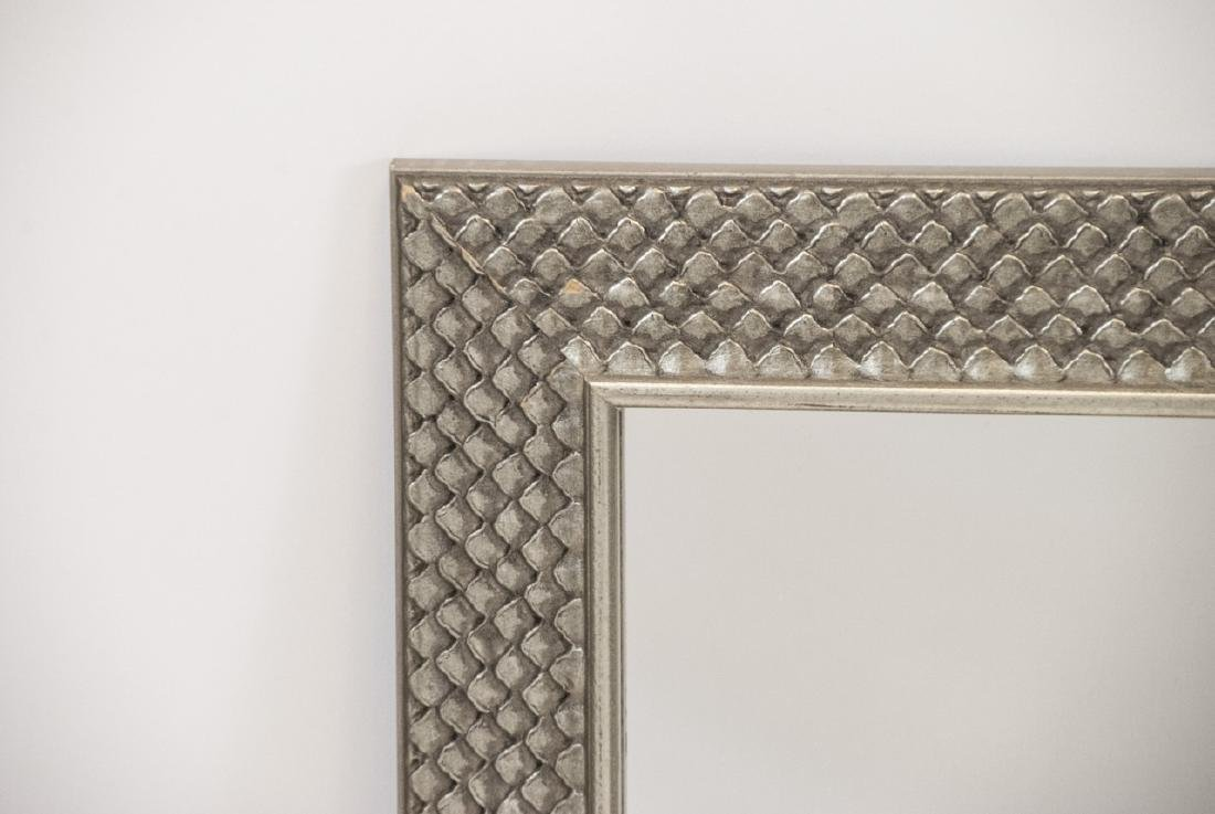 Contemporary Pewter Toned Scale Motif Mirror - 4