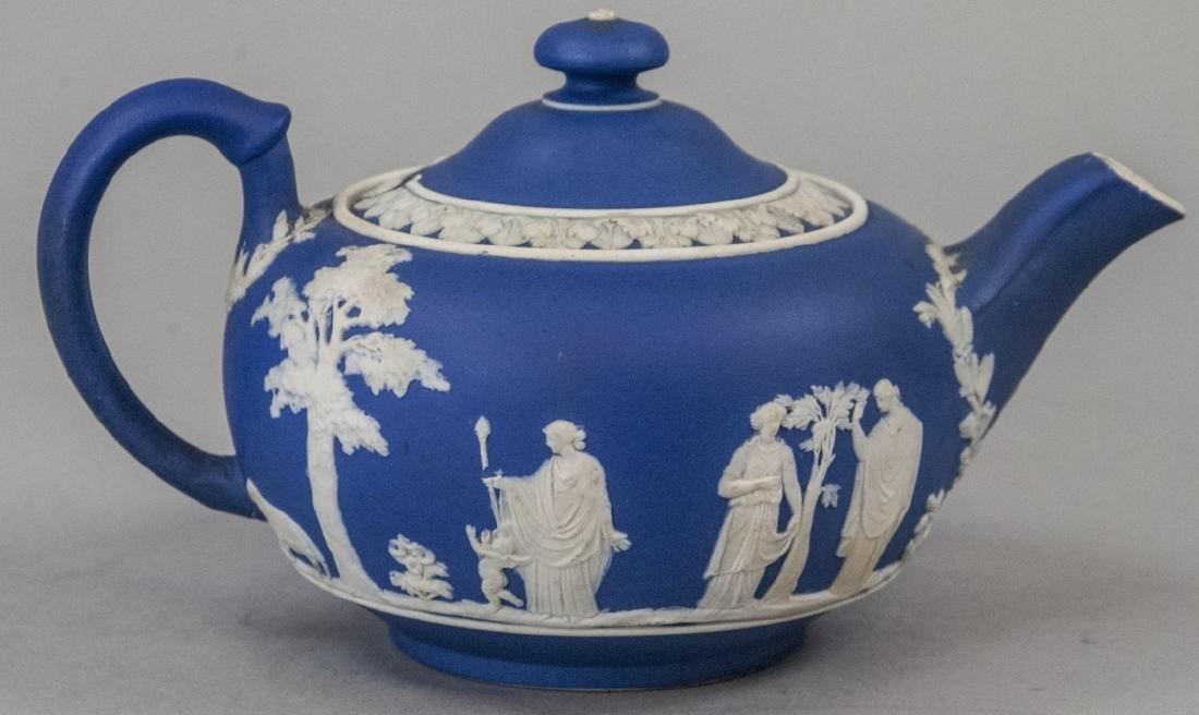 Antique 19th C Wedgwood Japerware Roman Teapot