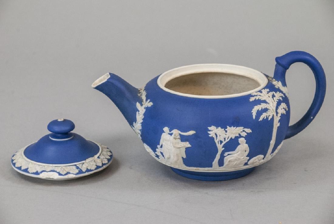 Antique 19th C Wedgwood Japerware Roman Teapot - 4