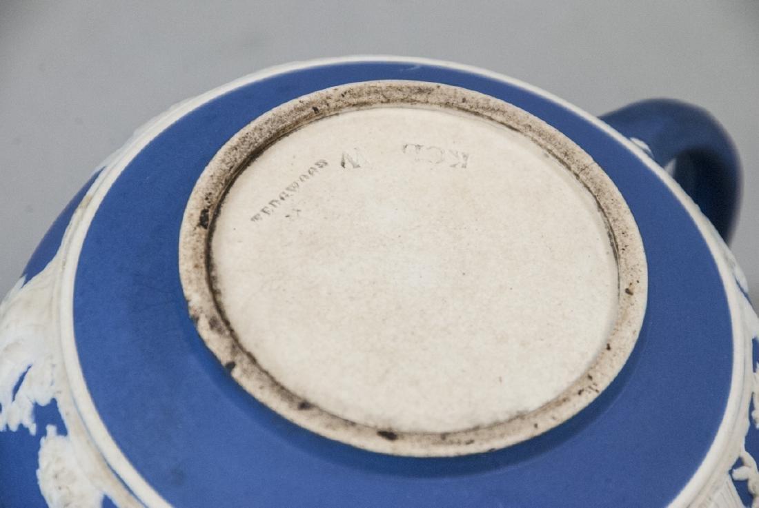 Antique 19th C Wedgwood Japerware Roman Teapot - 5
