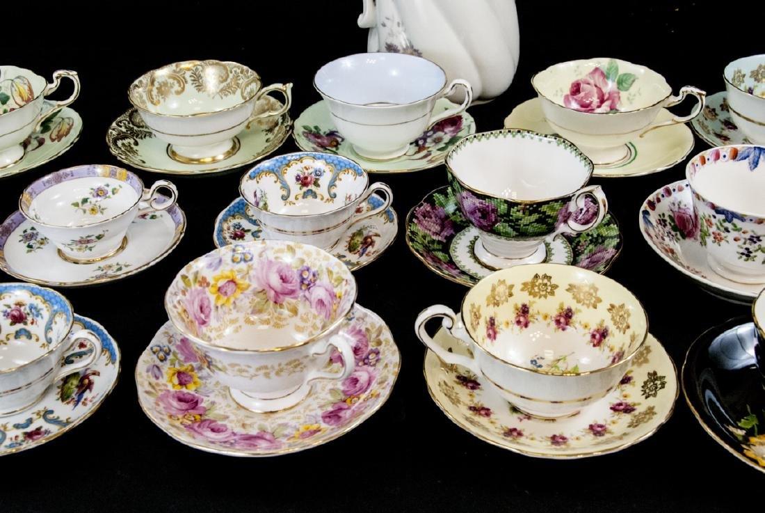 Collection Antique Tea Cups & Saucers Incl Limoges - 10