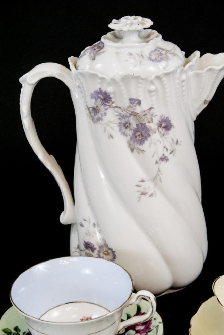 Collection Antique Tea Cups & Saucers Incl Limoges - 4