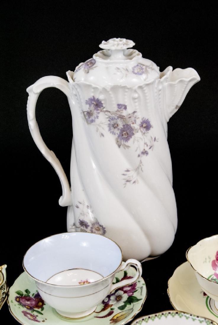 Collection Antique Tea Cups & Saucers Incl Limoges - 5