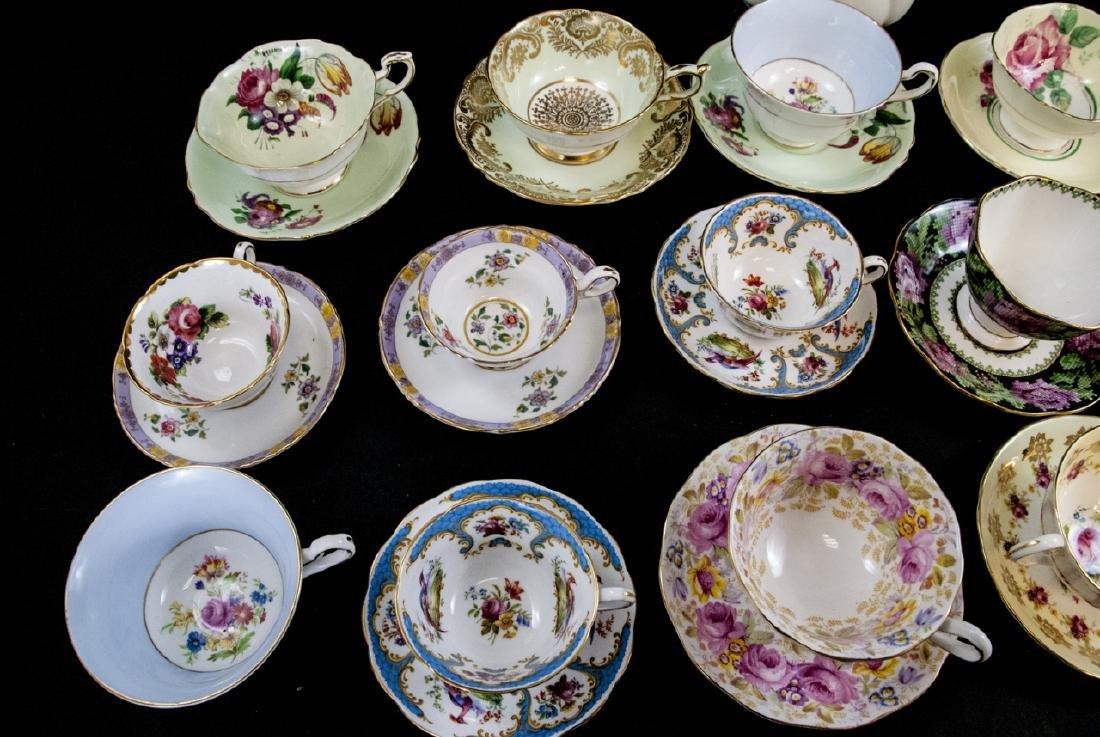 Collection Antique Tea Cups & Saucers Incl Limoges - 6