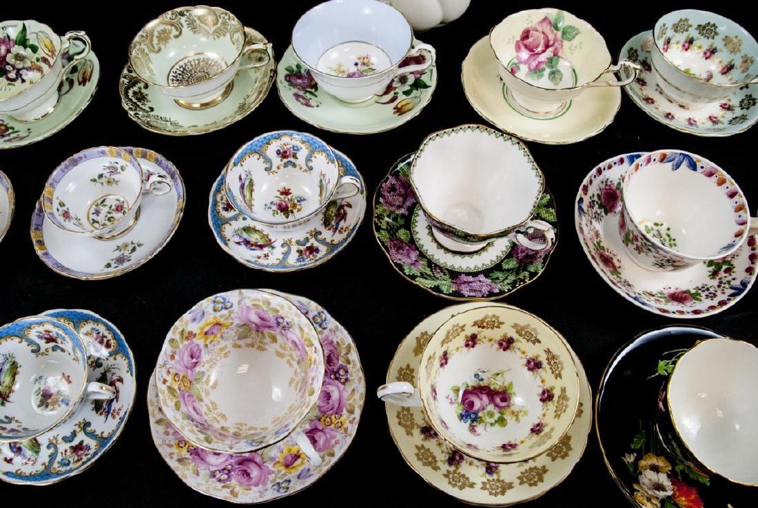 Collection Antique Tea Cups & Saucers Incl Limoges - 7