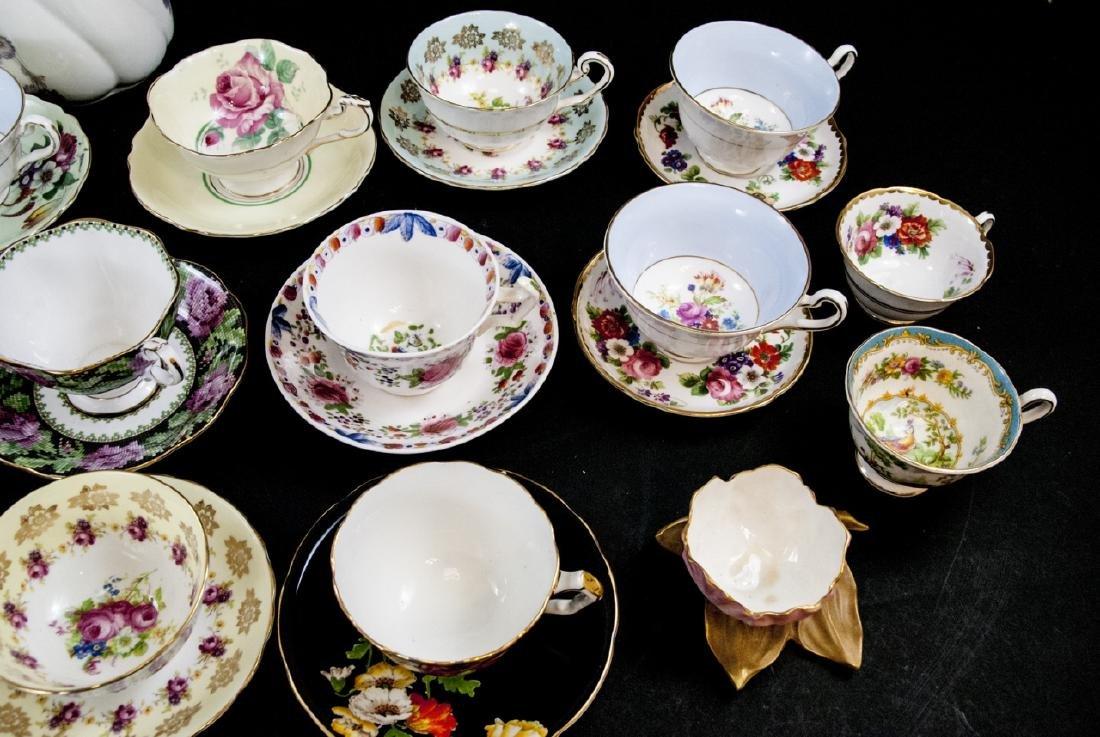 Collection Antique Tea Cups & Saucers Incl Limoges - 8