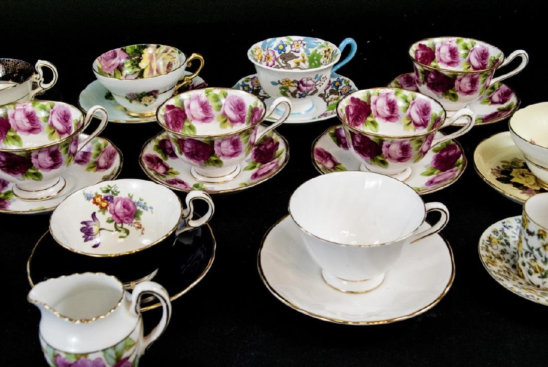 Collection Antique English Tea Cups & Saucers - 2