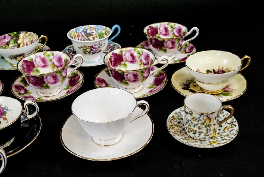 Collection Antique English Tea Cups & Saucers - 3