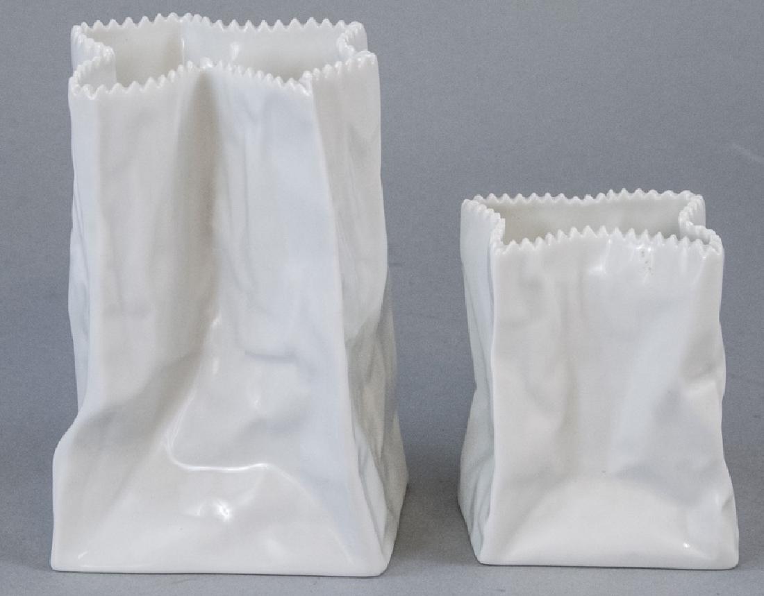Tapio Wirkkala Rosenthal Porcelain Paper Bag Vase