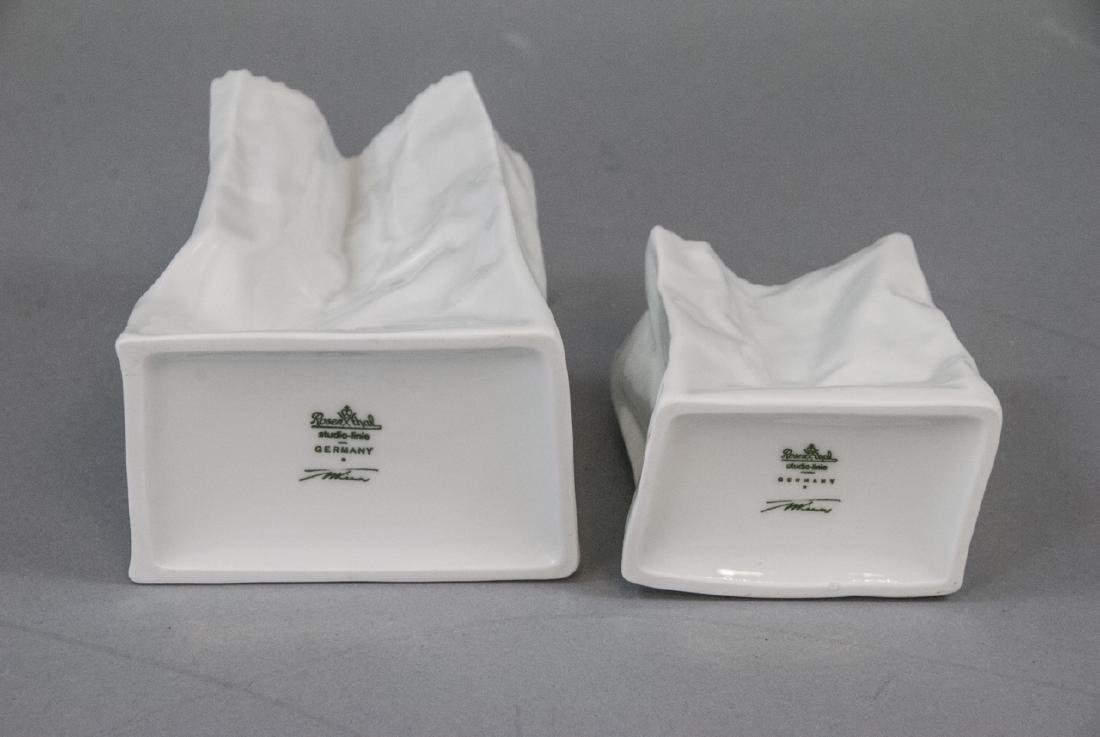 Tapio Wirkkala Rosenthal Porcelain Paper Bag Vase - 4