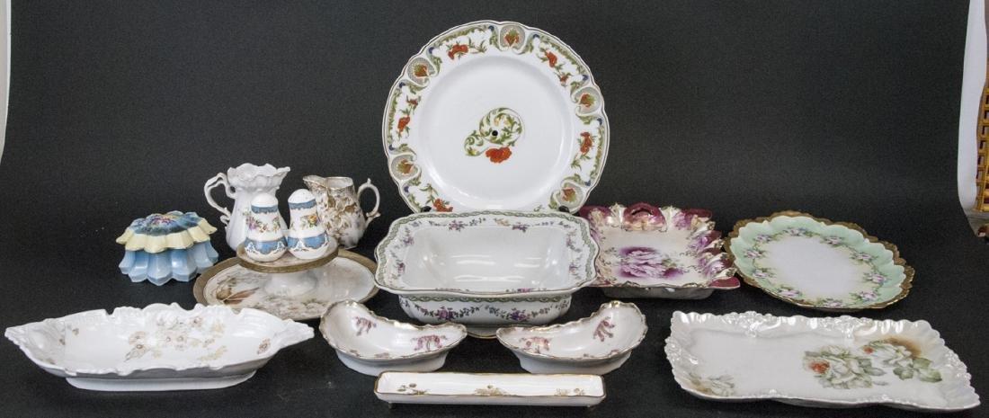 Lot of Bavarian Porcelain Serve Ware Items