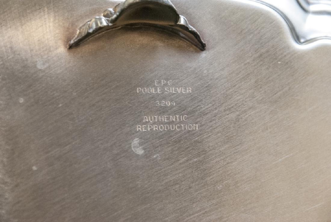 Lot of Silver Plate Serving Trays / Platters - 3