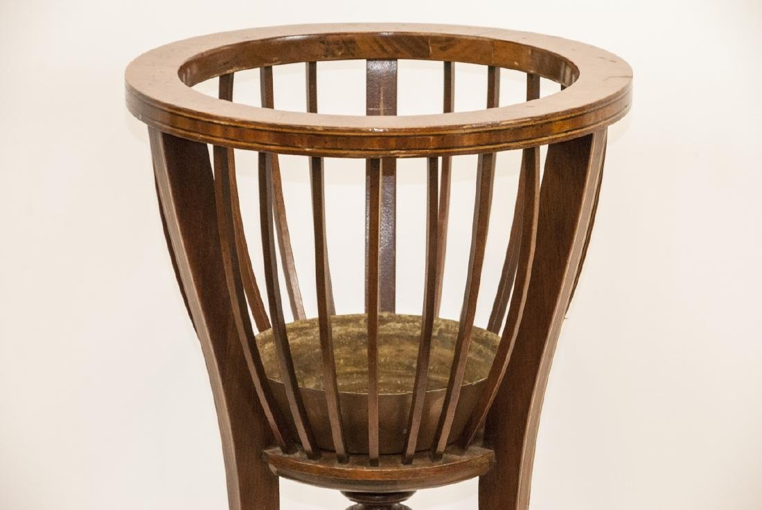Ant. Regency Style Inlaid Mahogany Plant Stand - 3