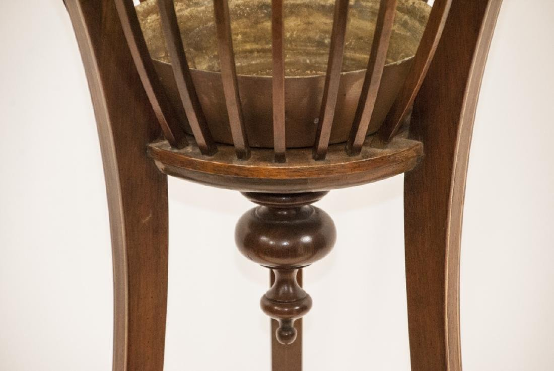 Ant. Regency Style Inlaid Mahogany Plant Stand - 4