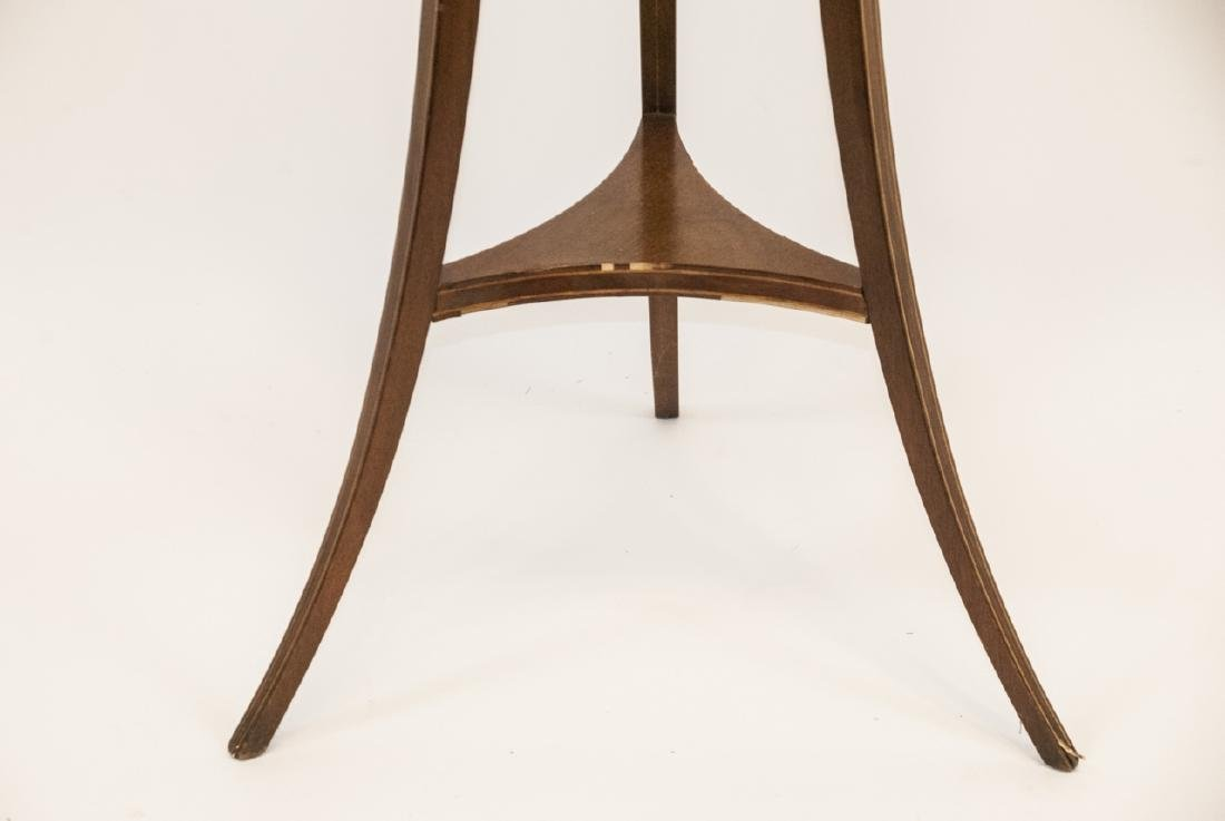 Ant. Regency Style Inlaid Mahogany Plant Stand - 5