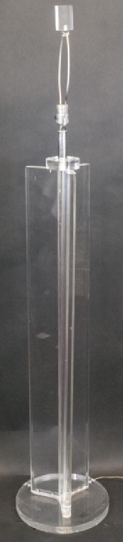 Mid Century Lucite Standing Lamp