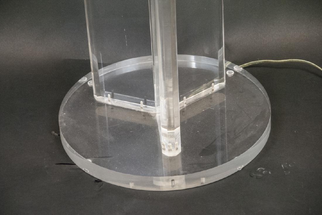 Mid Century Lucite Standing Lamp - 2