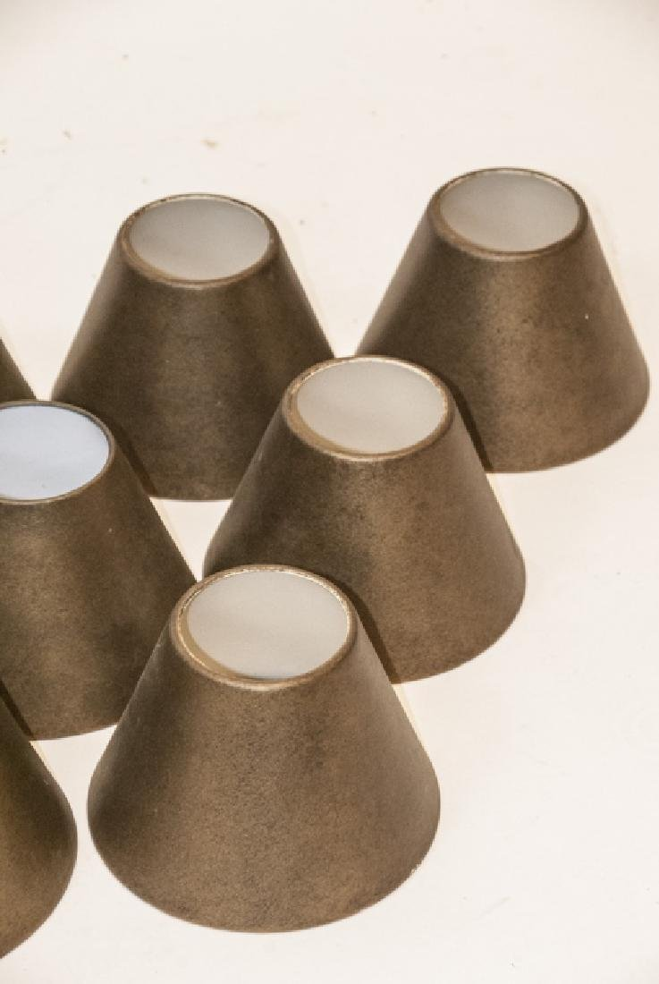 12 Gilt Bronze Metal Sconce Shades - 5