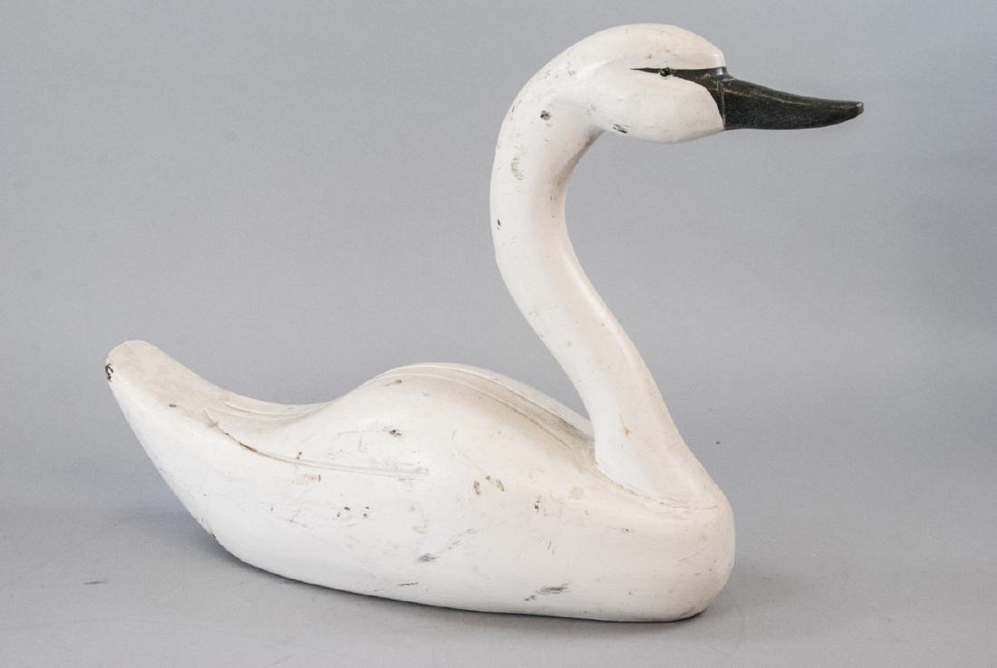 Hand Made Vintage Swan Decoy - 2