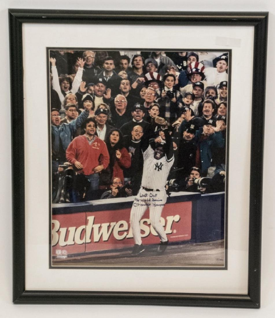 Signed Charlie Hayes 1996 World Series Photograph
