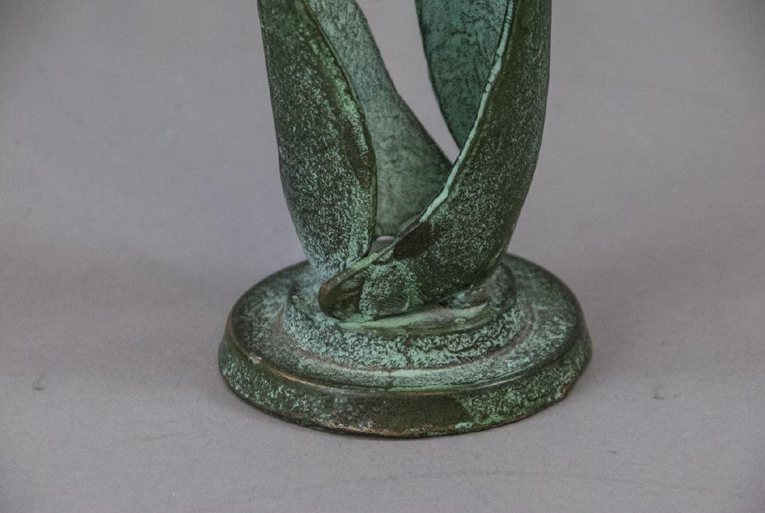 Bronze Mid Century Sculpture Family Holding Hands - 6