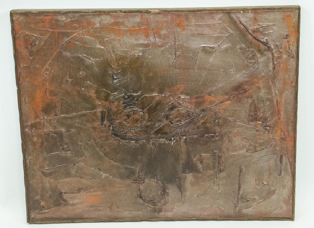 Mid Century Modern Impasto Oil Painting