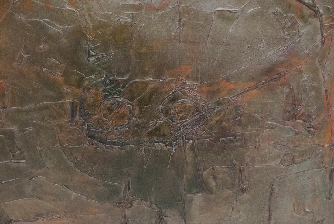 Mid Century Modern Impasto Oil Painting - 2