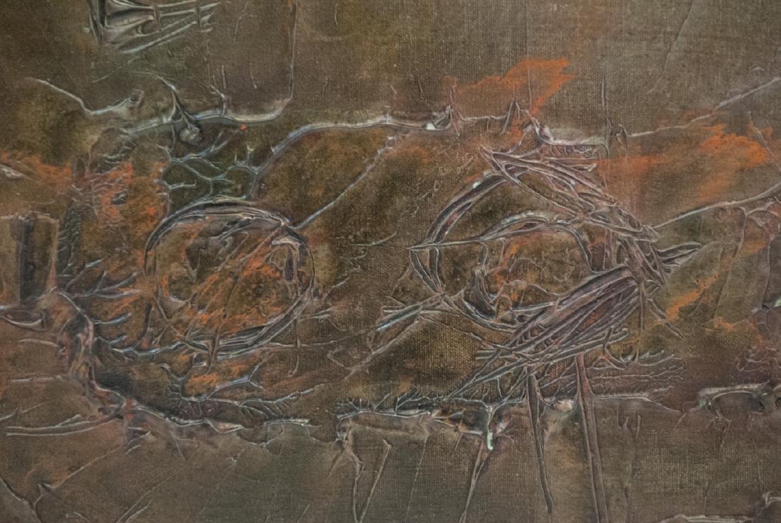 Mid Century Modern Impasto Oil Painting - 3