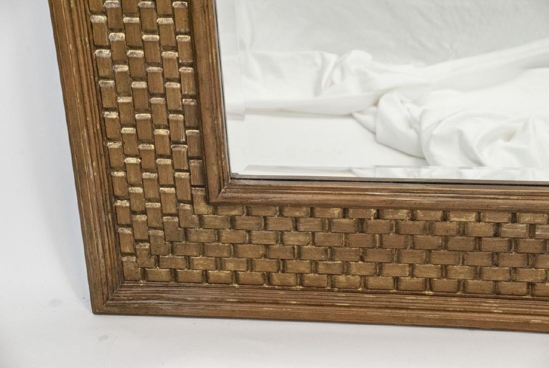 Large Modern La Barge Gilt Wood Woven Mirror - 4