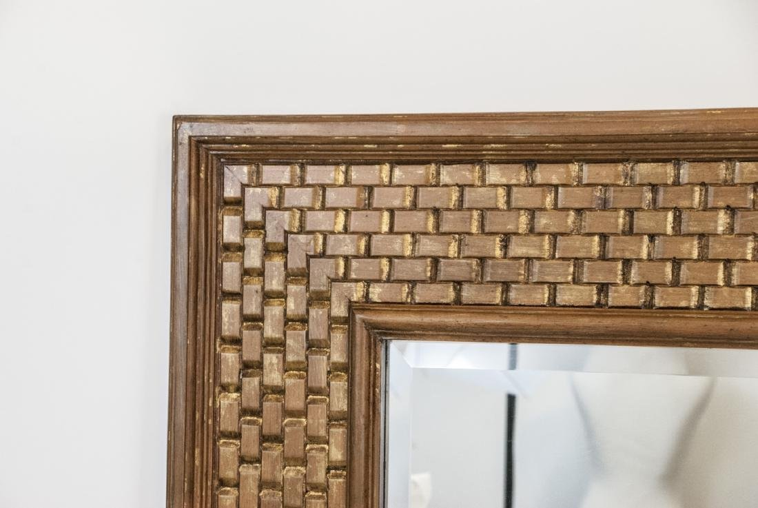 Large Modern La Barge Gilt Wood Woven Mirror - 6