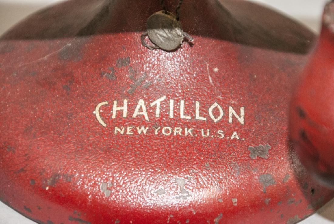 Vintage Chatillon Weighing Scale W Weights - 5