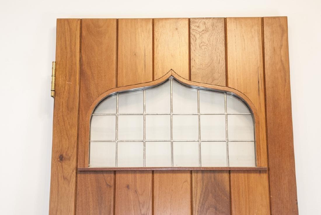 English Tudor Style Oak & Glass Panel Door - 2