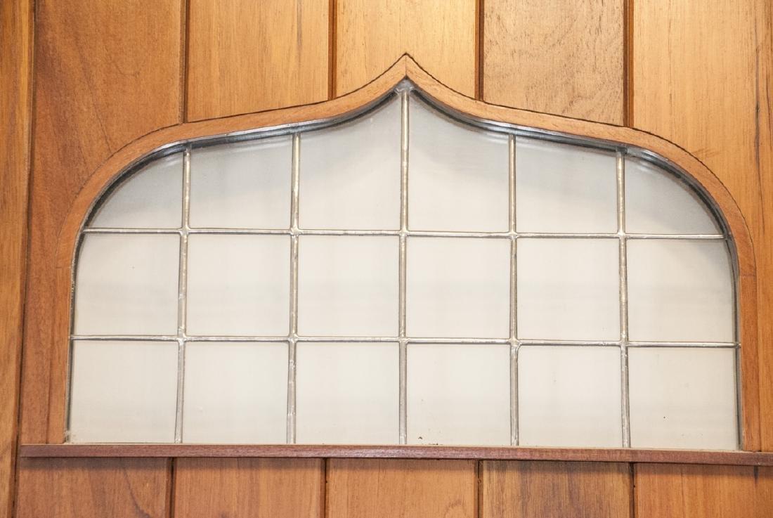 English Tudor Style Oak & Glass Panel Door - 3