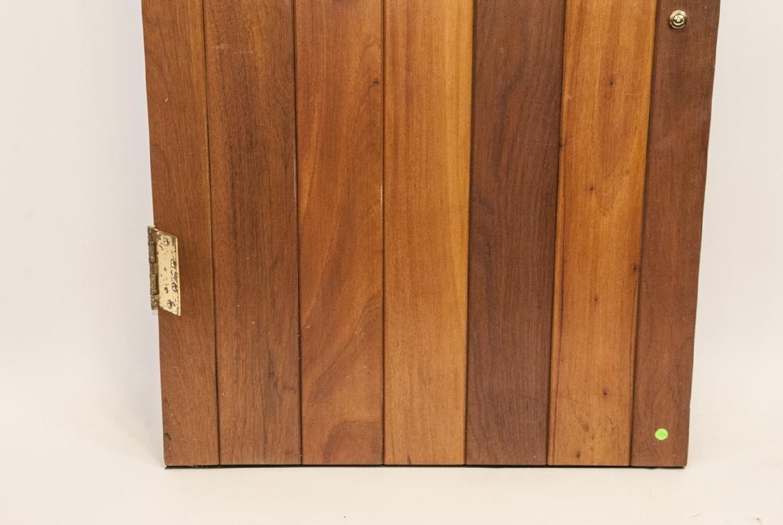 English Tudor Style Oak & Glass Panel Door - 4