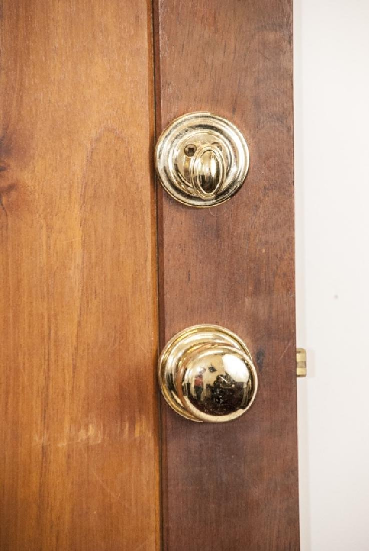 English Tudor Style Oak & Glass Panel Door - 5