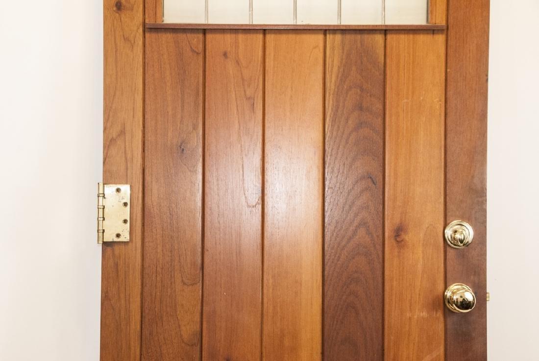 English Tudor Style Oak & Glass Panel Door - 6