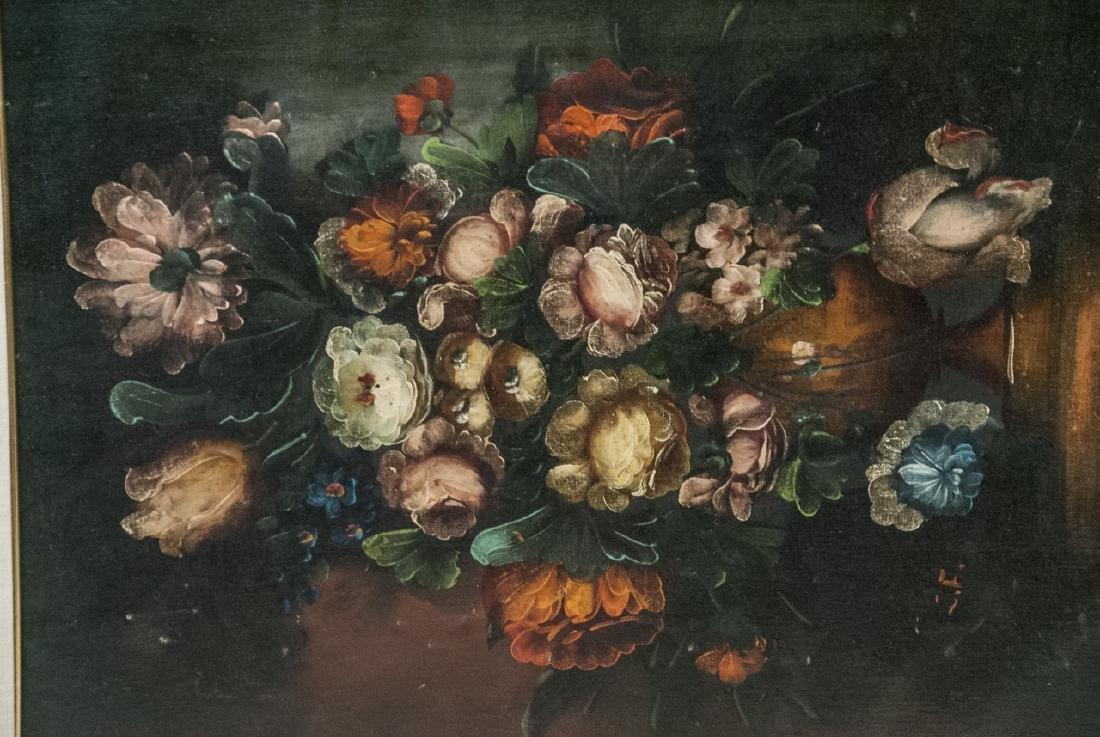 Mid C Oil Painting Floral Still Life - 2
