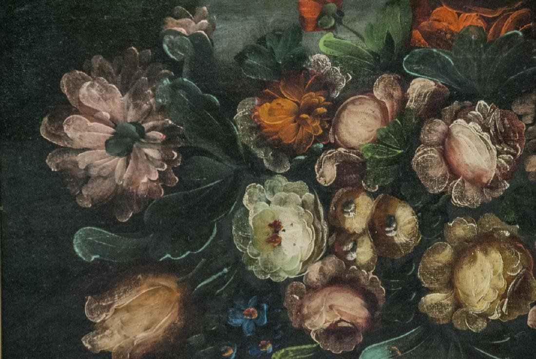 Mid C Oil Painting Floral Still Life - 3