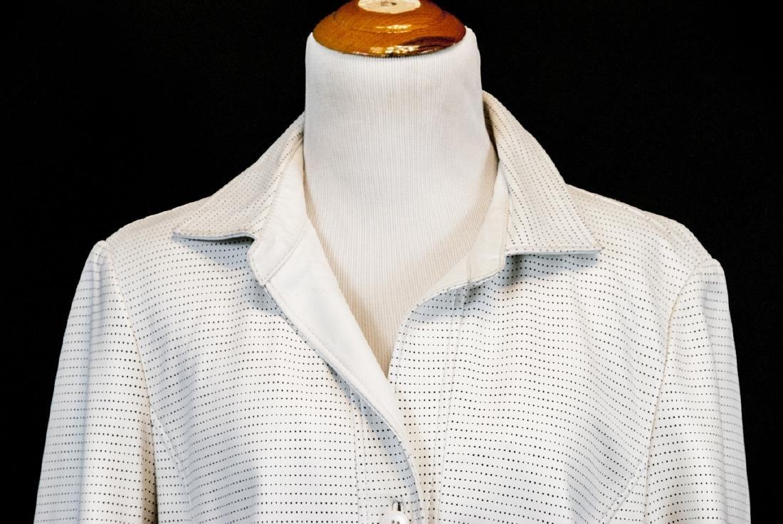 Vintage Saks Jandel Womens Lamb Skin Blazer / Coat - 2
