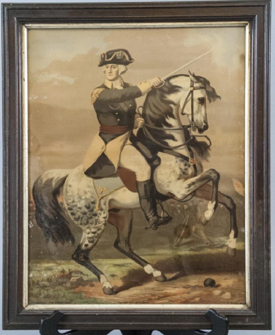 Antique F. Gleason George Washington Art on Board