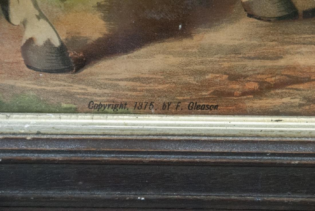Antique F. Gleason George Washington Art on Board - 5