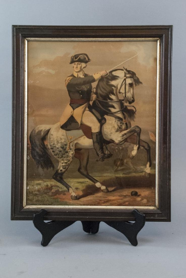 Antique F. Gleason George Washington Art on Board - 7