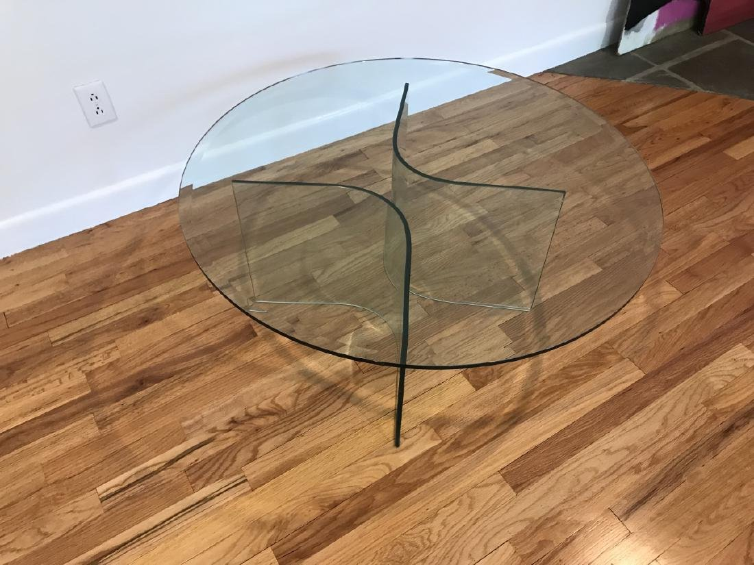 Mid C Modern Beveled Glass Coffee Table - 6
